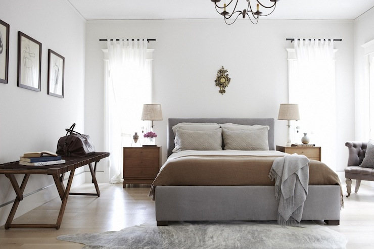 Gray And Brown Bedroom Contemporary Bedroom Simo Design