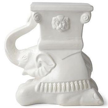 Tables - Happy Chic by Jonathan Adler Ceramic Elephant Stool I jcpenney - white elephant stool, elephant stool,