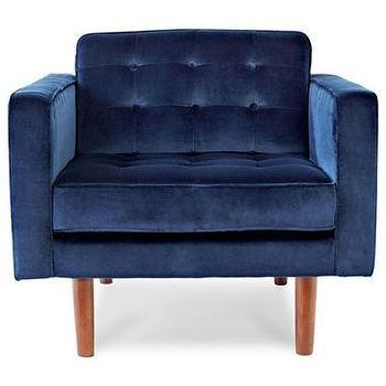 Seating - Happy Chic by Jonathan Adler Crescent Heights Tufted Chair I jcpenney - navy blue velvet tufted chair, modern velvet tufted chair, modern navy blue velvet tufted chair,