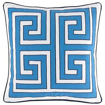 Pillows - Happy Chic by Jonathan Adler Elizabeth Greek Key Pillow I jcpenney - blue and white geometric pillow, blue and white greek key pillow, greek key pillow,