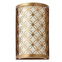 Lighting - Cyrus Wall Sconce I Z Gallerie - interlocking circles sconce, gold leafed wall sconce, gold leafed geometric sconce, gold leafed interlocking circle sconce,