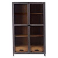 Storage Furniture - Design by Conran Brimstone Cabinet I jcpenney - charcoal gray cabinet, glass fronted storage cabinet, contemporary gray display cabinet,