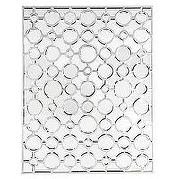 Mirrors - Sophie Mirror | Z Gallerie - interlocking circle mirror, interlacing circles mirror, silver geometric mirror, geometric circles mirror,