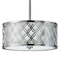 Lighting - Maverick Pendant I Z Gallerie - chrome quatrefoil pendant, quatrefoil pendant, geometric chrome pendant,