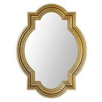 Mirrors - Mosque Mirror | Z Gallerie - gold quatrefoil mirror, gold framed mirror, quatrefoil mirror,