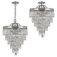 Lighting - Chase Chandelier | Z Gallerie - teardrop crystal chandelier, crystal chandelier, tiered crystal chandelier,
