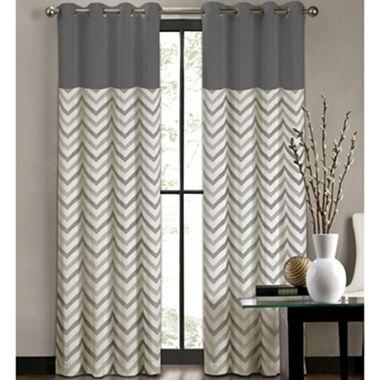 Colordrift tribal stripe grommet top curtain panel i jcpenney for Jcpenney living room curtains