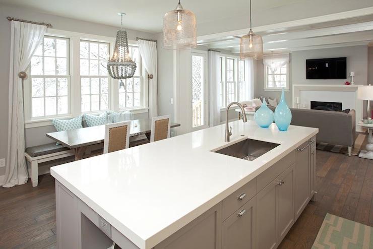 White and gray kitchen contemporary kitchen benjamin moore stonington gray refined llc - Gray kitchen cabinets benjamin moore ...