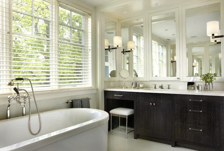 Espresso Vanity Contemporary Bathroom James Thomas