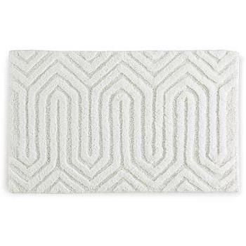 Bath - Happy Chic by Jonathan Adler Lola Bath Rug I jcpenney - white geometric bath mat, white geometric bath rug, modern white bath mat, modern white bath rug,
