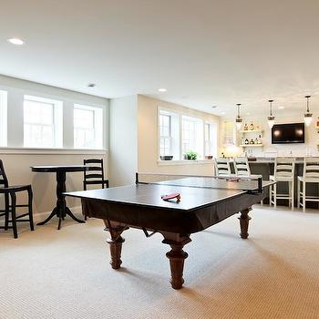 Basement Game Room, Contemporary, basement, Refined LLC