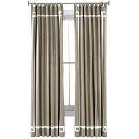 Window Treatments - Happy Chic by Jonathan Adler Lola Canvas Curtain Panel I jcpenney - gray drapes, gray curtains, gray drapes with white inset border, gray curtains with white inset border,