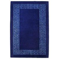 Rugs - Happy Chic by Jonathan Adler Greek Key Wool Rectangular Rugs I jcpenney - blue greek key rug, blue rug with greek key border, dark blue greek key rug,
