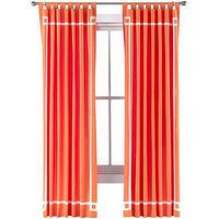 Window Treatments - Happy Chic by Jonathan Adler Katie Canvas Curtain Panel I jcpenney - orange drapes, orange curtains, orange drapes with white inset border, orange curtains with white inset border,