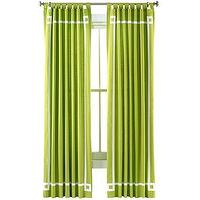 Window Treatments - Happy Chic by Jonathan Adler Charlotte Canvas Curtain Panel I jcpenney - green curtains, green drapes, green drapes with white inset border, green curtains with white inset border,