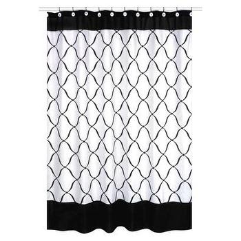 Bath - Sweet Jojo Designs Princess Shower Curtain I Target - black and white shower curtain, black and white lattice print shower curtain, lattice print shower curtain,
