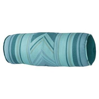 Pillows - Threshold Bolster Pillow I Target - teal bolster pillow, teal patterned bolster pillow, striped teal bolster pillow,