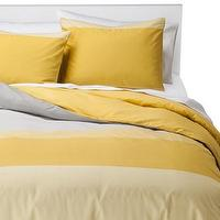 Bedding - Room Essentials Soft Colorblock Duvet Cover Set I Target - yellow and gray colorblock bedding, yellow and gray colorblock duvet, colorblock duvet, yellow and gray modern bedding,