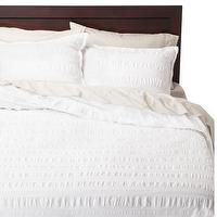 Bedding - Threshold Seersucker Duvet Cover Set I Target - white bedding, white seersucker bedding, white seersuck duvet set,