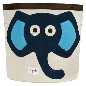 Decor/Accessories - 3 Sprouts Storage Bin Elephant Blue I Target - kids storage bin, playroom storage bin, nursery storage bin, elephant storage bin,