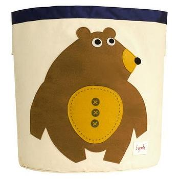 Decor/Accessories - 3 Sprouts Storage Bin Bear I Target - kids storage bin, nursery storage bin, canvas storage bin, playroom storage bin,
