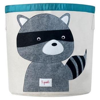 Beds/Headboards - 3 Sprouts Storage Bin Raccoon I Target - kids storage bin, nursery storage bin, canvas storage bin, playroom storage bin, raccoon storage bin,