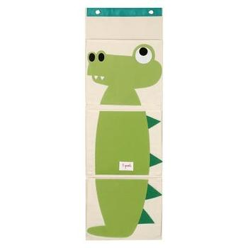 Decor/Accessories - Crocodile 3 Pocket Hanging Organizer by 3 Sprouts I Target - kids room hanging organizer, playroom hanging organizer, crocodile hanging organizer,