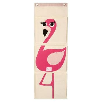 Decor/Accessories - Flamingo 3 Pocket Hanging Organizer by 3 Sprouts I Target - kids organizer, hanging kids room organizer, flamingo hanging organizer,