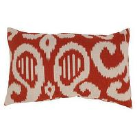 Pillows - Fergano Toss Pillow Collection I Target - red ikat pillow, ikat pillow, rust red ikat pillow,