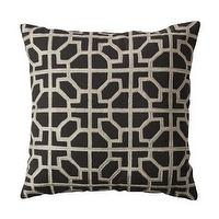 Pillows - Fieldcrest Luxury Molten Decorative Pillow - Lead I Target - dark gray geometric pillow, dark gray modern pillow, dark grey fretwork pillow,