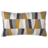 Pillows - Threshold Felt Patches Decorative Pillow - Gold I Target - gray and mustard yellow pillow, felt patchwork pillow, gray and mustard felt pillow,