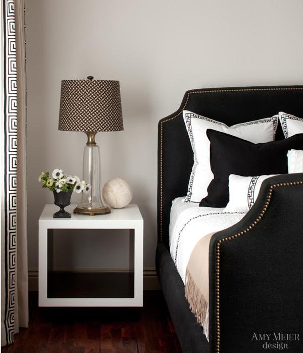 Black velvet headboard contemporary bedroom amy for Velvet bedroom designs