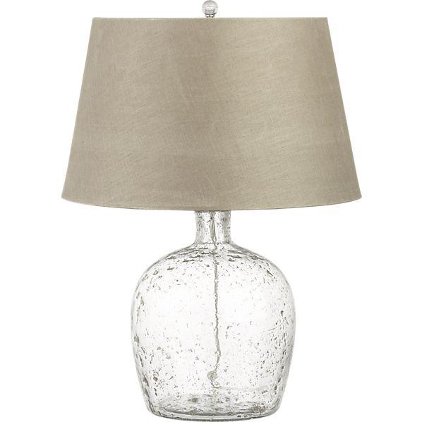 lighting addy table lamp crate and barrel glass table lamp. Black Bedroom Furniture Sets. Home Design Ideas