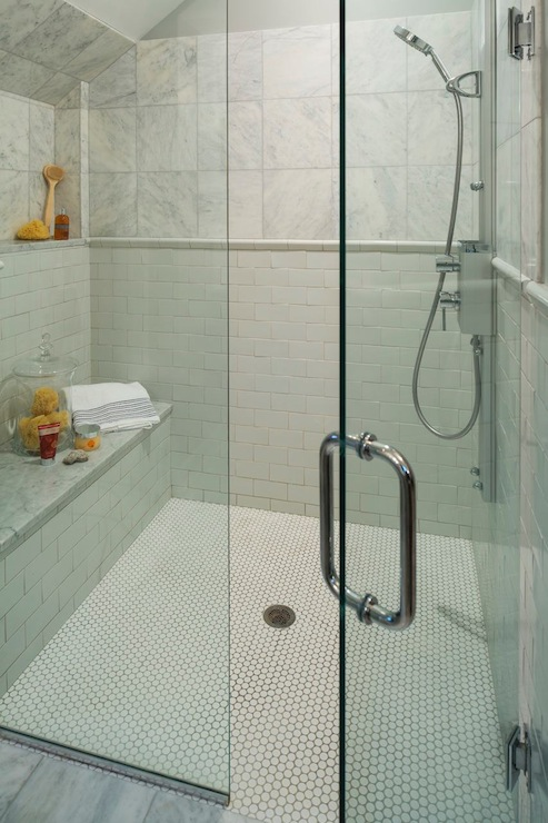 Enclosed Glass Shower Contemporary Bathroom Lucy