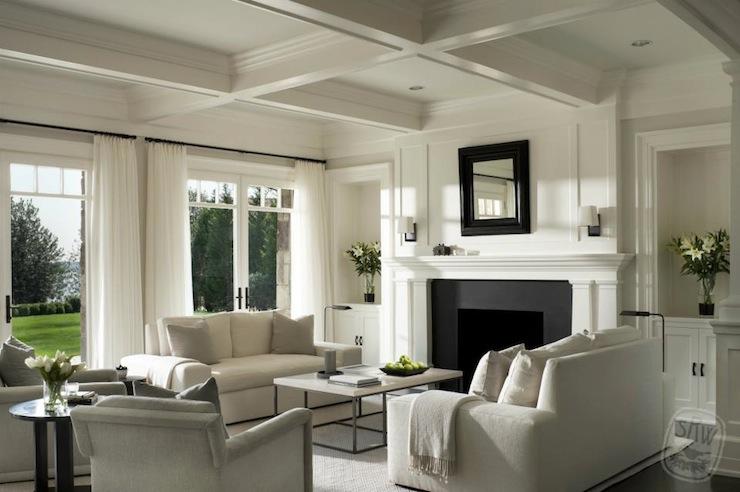 White Living Room, Transitional, living room, Shope Reno Wharton