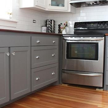 Gray Kitchen Cabinets, Transitional, kitchen, Benjamin Moore Whale Gray, Modern Jane