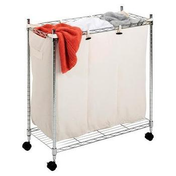Miscellaneous - Whitmor 3-Compartment Chrome Laundry Sorter I Target - laundry sort, laundry bins, laundry hamper, laundry divider, laundry cart,