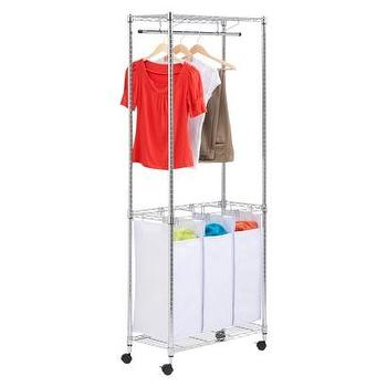 Miscellaneous - Urban Laundry Center with Casters I Target - laundry sorter, laundry bins, laundry hamper, laundry divider, laundry cart, laundry hamper with drying rail, laundry room organizer,