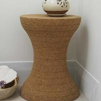 Tables - Hourglass Cork Stool I VivaTerra - cork stool, cork furniture, hourglass cork stool, hourglass shaped cork stool,