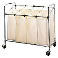 Miscellaneous - Laundry Sorter - Chrome I Target - laundry sort, laundry bins, laundry hamper, laundry divider, laundry cart,