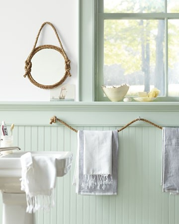 Seafoam green bathroom cottage bathroom martha stewart for Martha stewart bathroom designs