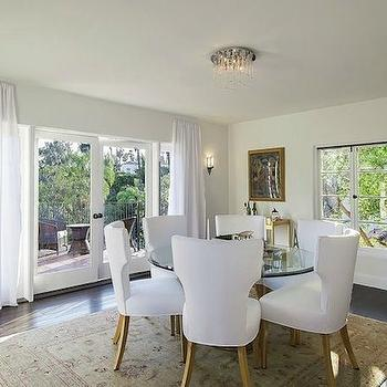White Dining Chairs, Mediterranean, dining room, Kishani Perera