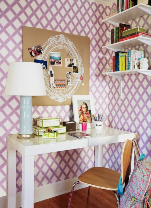 Lattice Wallpaper Contemporary Girl S Room Teen Vogue