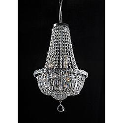 Lighting - Centerpiece Chrome and Crystal 6-Light Chandelier | Overstock.com - chrome and crystal chandelier, crystal chandelier, chrome and crystal 6-light chandelier,