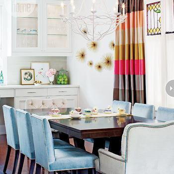 Blue Dining Chairs, Contemporary, dining room, Style at Home