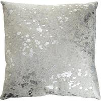 Pillows - Barneys New York Spot Pillow I Barneys.com - wrinkled silver leather pillow, silver leather pillow, metallic silver pillow,