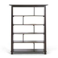 Storage Furniture - Havana Brown Wood Modern Bookcase | Overstock.com - modern bookcase, modern wood bookcase, dark brown modern bookcase,