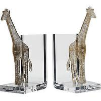 Decor/Accessories - Spisani Giraffe Bookends I Barneys.com - giraffe bookends, modern giraffe bookends, acrylic giraffe bookends,
