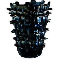 Decor/Accessories - Venini Black Ritagli Vase I Barneys.com - black glass vase, modern black glass vase, black blown glass vase,