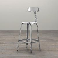Seating - French T Back Counter Stool Polished Chrome | Bar & Counter Stools | Restoration Hardware - french t back stool, t back stool